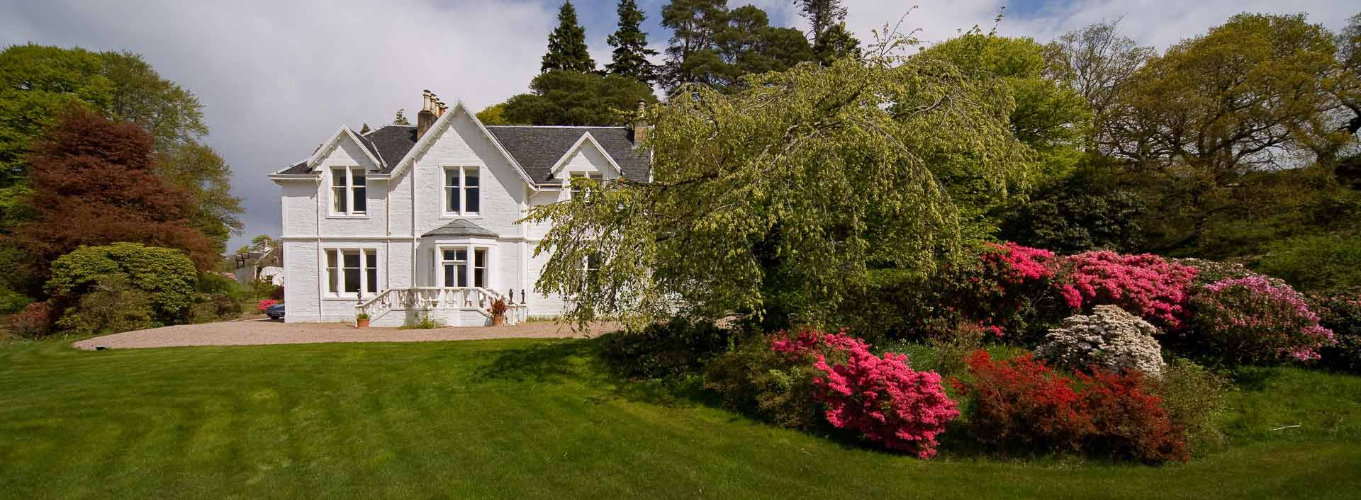 Beautiful gardens at Druimneil House - country house B&B in Port Appin near Oban on the Argyll coast of Scotland